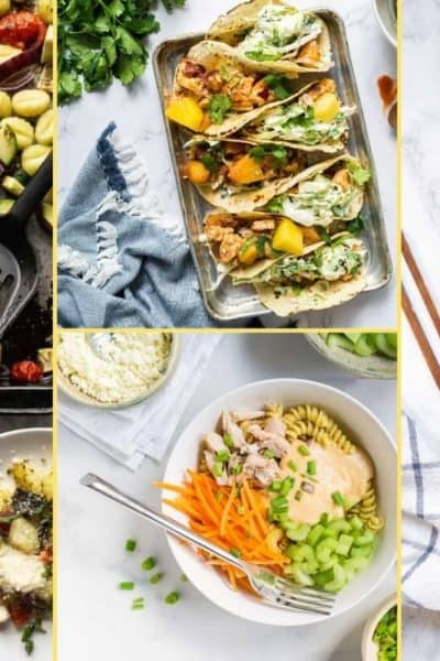 a Collage of photos for the supper club meal plan number 15
