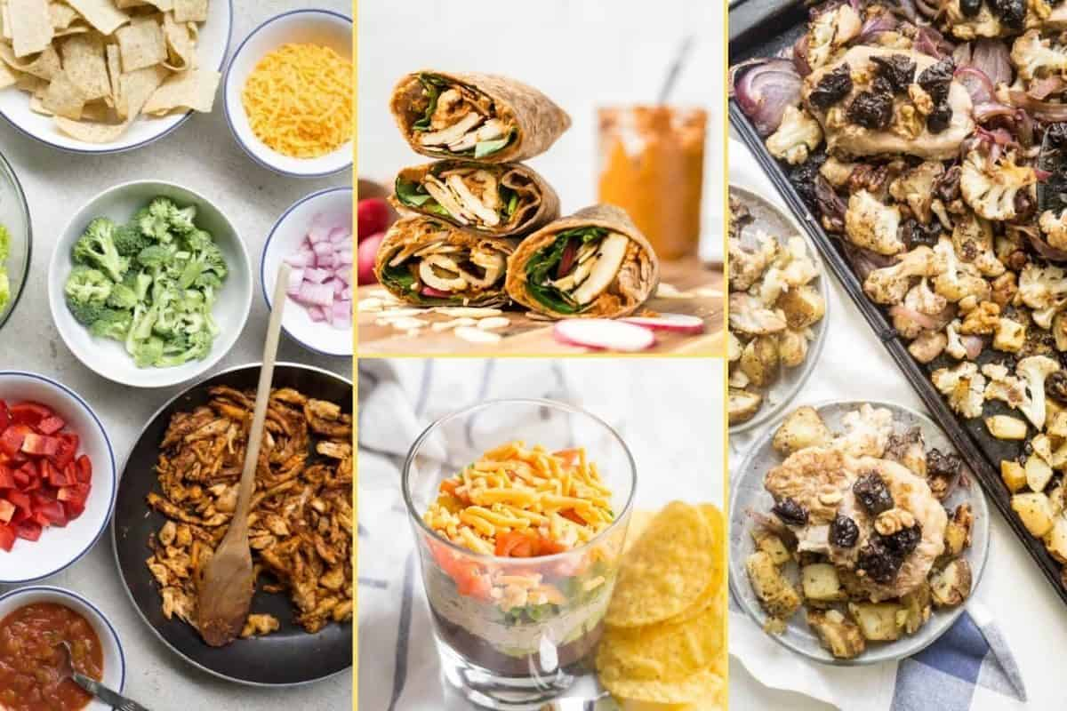 a Collage of photos for the supper club meal plan number 16