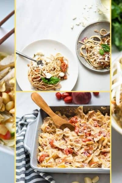 a Collage of photos for the supper club meal plan number 19