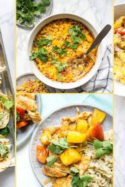 a Collage of photos for the supper club meal plan number 20