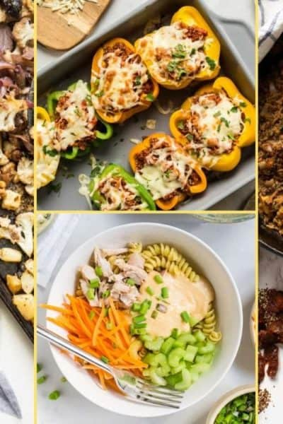 a Collage of photos for the supper club meal plan number 22