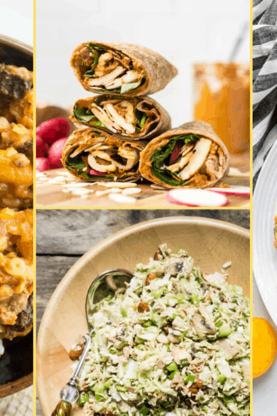 a Collage of photos for the supper club meal plan number 26