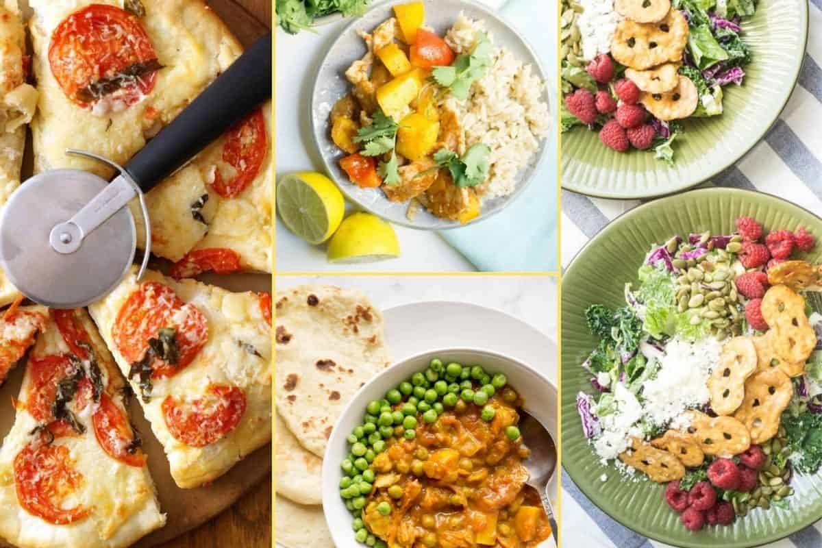 a Collage of photos for the supper club meal plan number 27