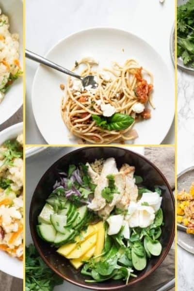 a Collage of photos for the supper club meal plan number 28