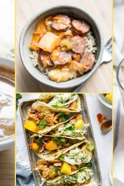 a Collage of photos for the supper club meal plan number 29