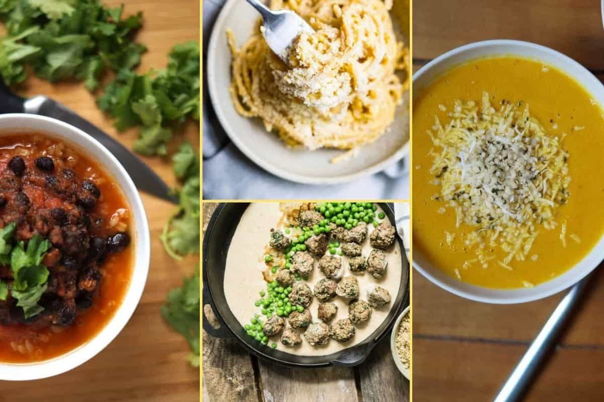 a Collage of photos for the supper club meal plan number 30