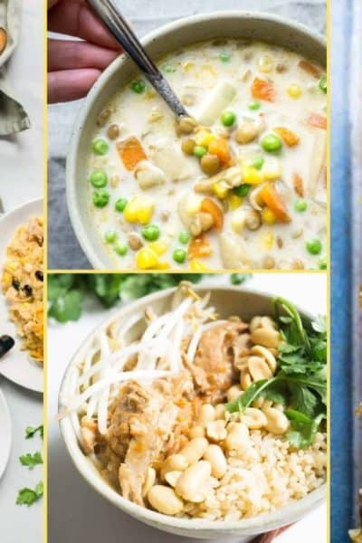 a Collage of photos for the supper club meal plan number 35
